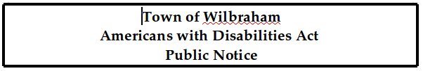 Americans with Disabilities Act Public Notice (PDF)